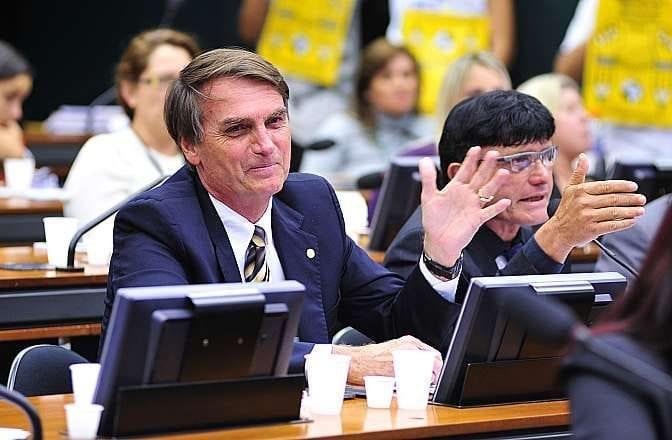 Deputado Jair Bolsonaro Foto:Zeca Ribeiro / Câmara dos Deputados