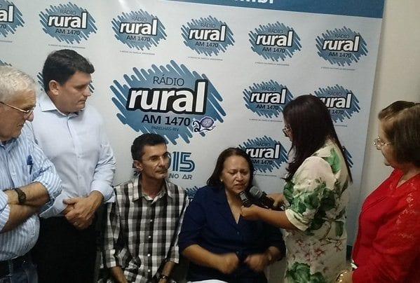 Senadora Fátima Bezerra declara apoio ao candidato Alexandre Petronilo, em Parelhas