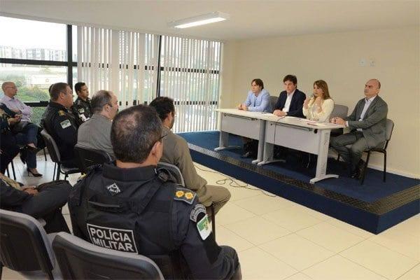Cúpula da segurança reunida. Foto: Adriano Abreu/Tribuna do Norte