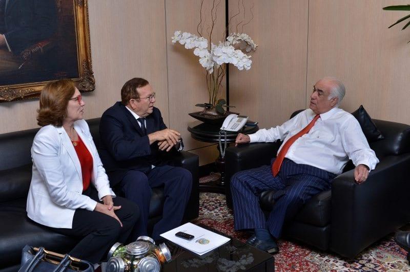 Prefeito Jaime Calado e deputada Zenaide se reúnem com ministro dos Transportes