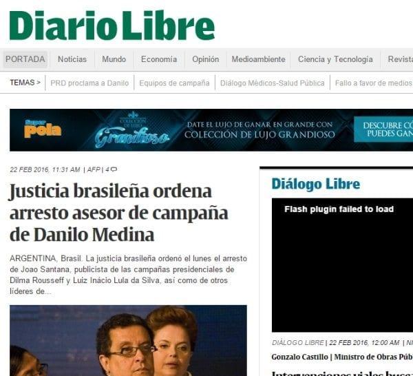 Imprensa dominicana destaca prisão de Santana