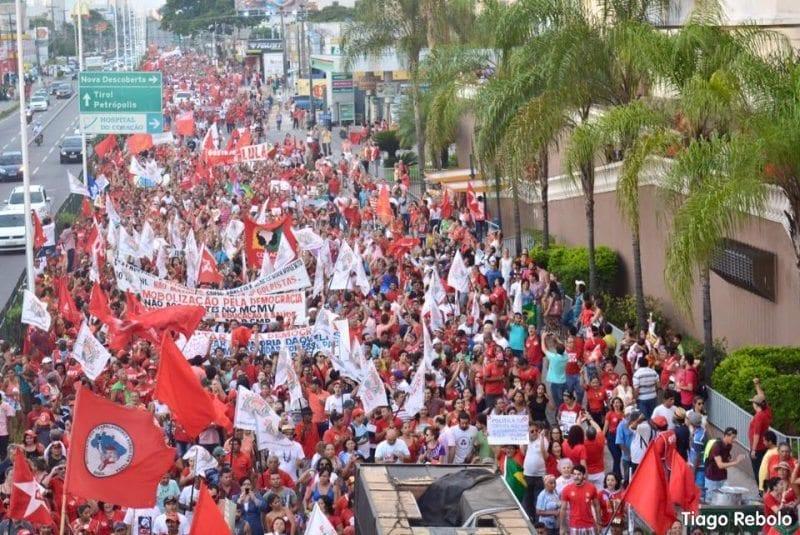 """""""Frente Brasil Popular"""" fará protesto em três cidades do RN pela """"defesa da democracia"""""""