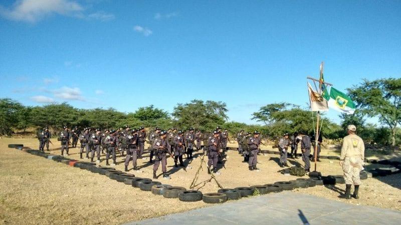 Policiais militares participam de curso de adaptação a caatinga