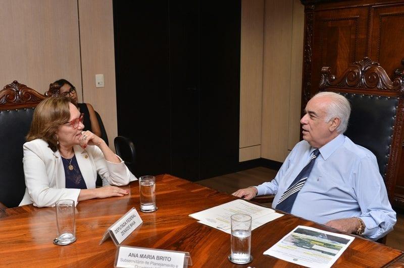 Ministro dos Transportes garante obra do viaduto do Gancho de Igapó em reunião com deputada Zenaide Maia