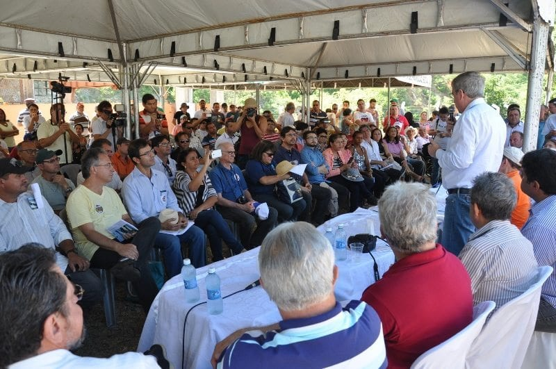 Representante do Governo Federal garante que as águas do Rio São Francisco chegam no final deste ano na Paraíba