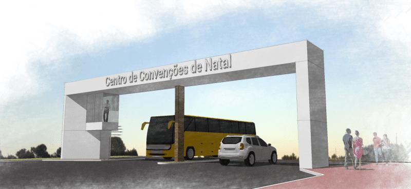 Governo do RN bancará novo pórtico do Centro de Convenções
