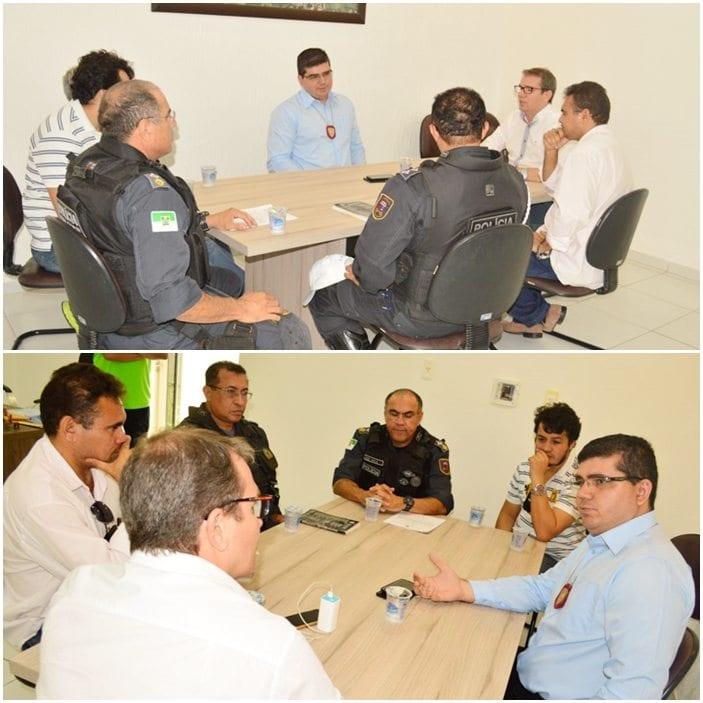 Prefeito do Assú discute segurança pública com dirigentes da PM e Polícia Civil
