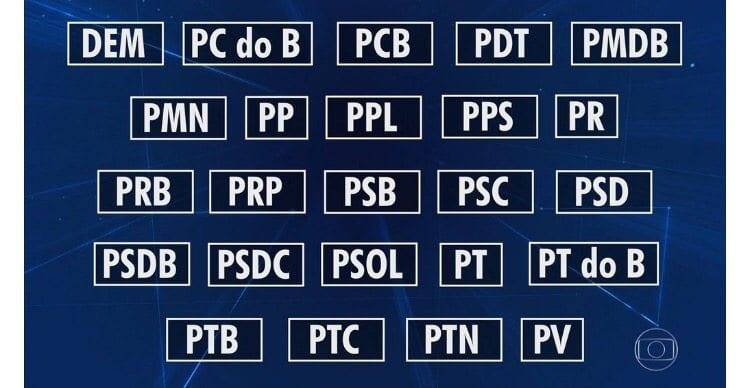 """Veja a lista dos 24 partidos que estão com políticos no """"listão"""" da Odebrecht"""
