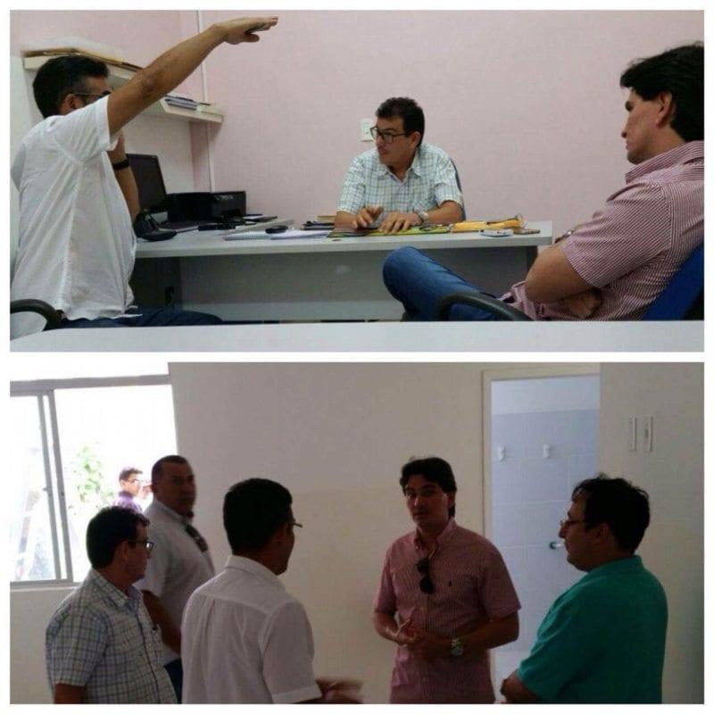 Deputado George Soares visita reforma do Hospital Tarcísio Maia em Mossoró