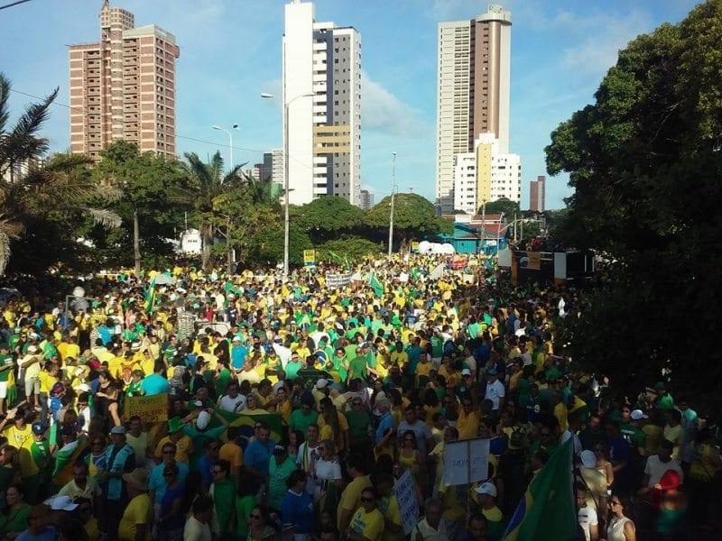 Manifestação em Natal a favor do impeachment no próximo domingo será na Praça Cívica
