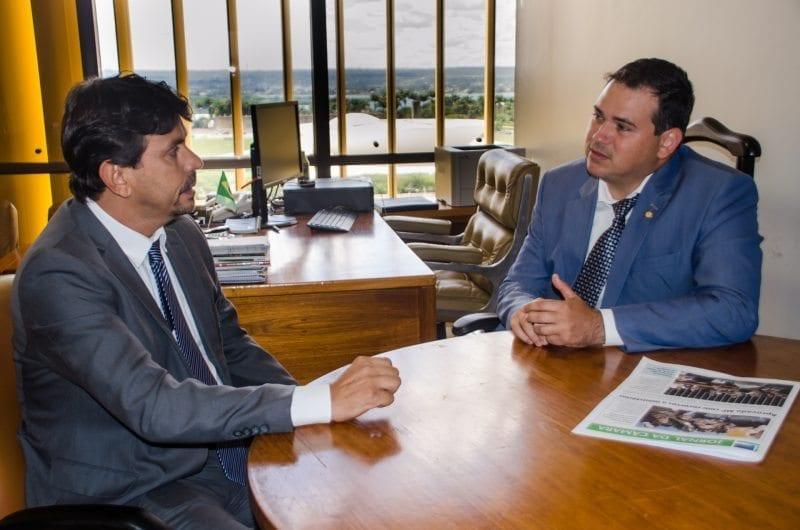 Obstrução das obras de Oiticica é tema de reunião entre Beto Rosado e secretário de Recursos Hídricos