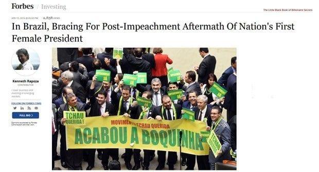 Imprensa internacional repercute processo de impeachment no Brasil