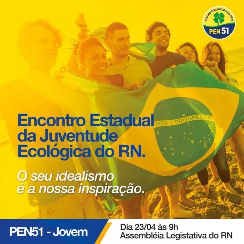 Partido Ecológico Nacional promove evento com jovens no próximo sábado