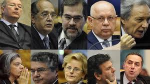 Ministros do STF  Foto: Arte do blog do Magno