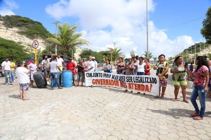 Moradores do Conjunto Praia Mar, em Natal, pedem regularização