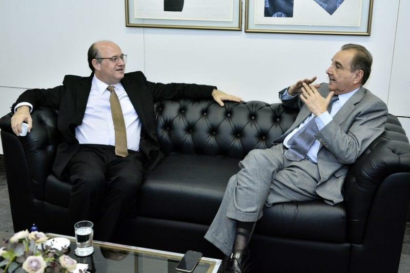 Agripino recebe Ilan Goldfajn e reforça competência do economista para presidir Banco Central