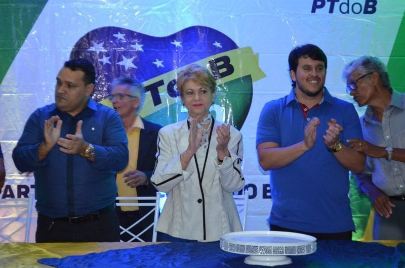 Wilma participa de lançamento de pré-candidaturas do PTdoB de Nova Cruz