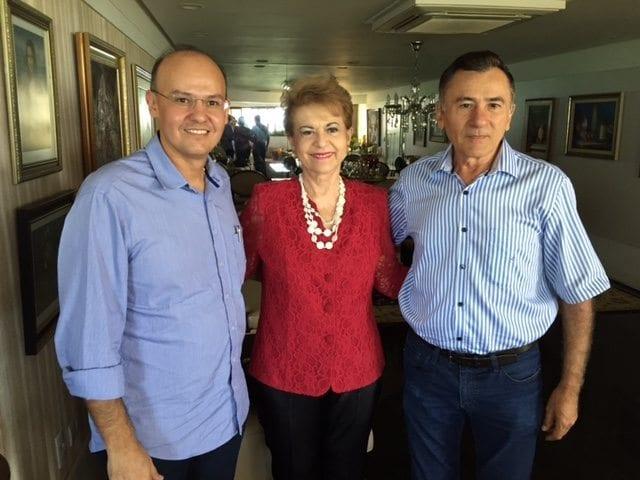 Wilma discute eleições de Caicó com ex-prefeito Bibi e vereador Alex