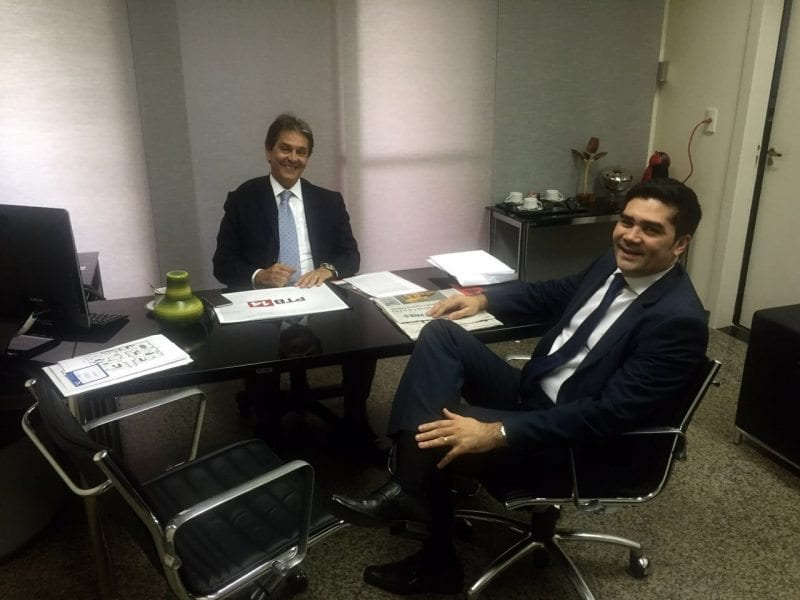 Presidente do PTB potiguar se reúne com dirigente nacional da legenda, Roberto Jefferson