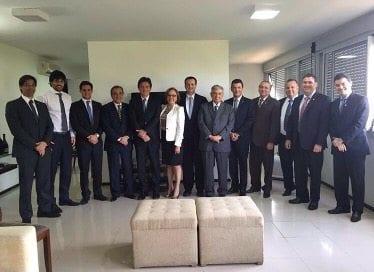 Imagens da reunião do governador Robinson Faria com a bancada federal