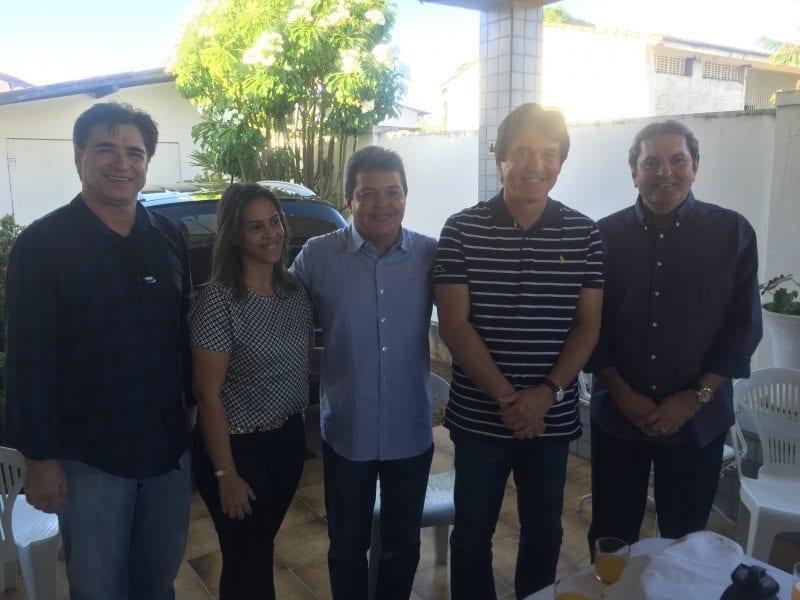 Governador em reunião com pré-candidata a prefeita de Santa Cruz