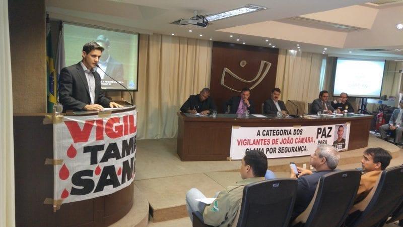 Deputado Rafael Motta participa de audiência sobre integridade física dos vigilantes