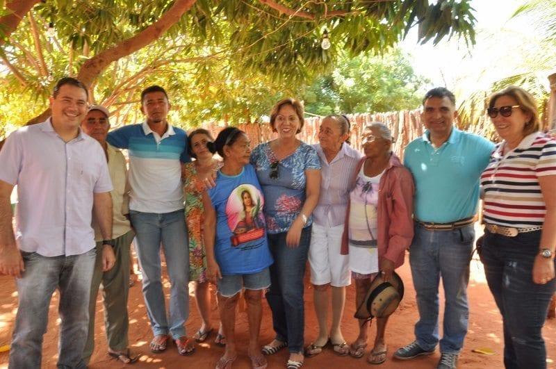 Em pré-campanha, Rosalba Ciarlini cumpre agenda na zona rural ao lado de Beto Rosado