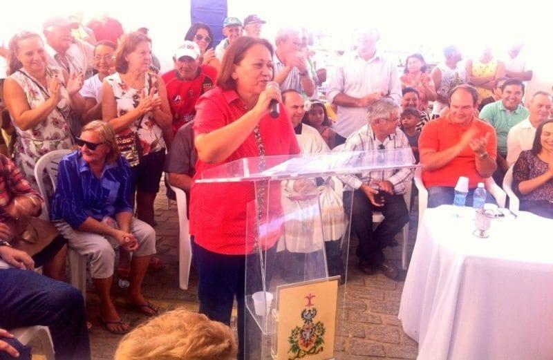 Em tom de pré-campanha, Fátima Bezerra cumpre agenda em Jardim do Seridó