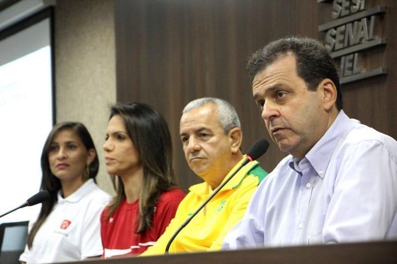 Veja fotos da entrevista coletiva sobre o revezamento da Tocha Olímpica