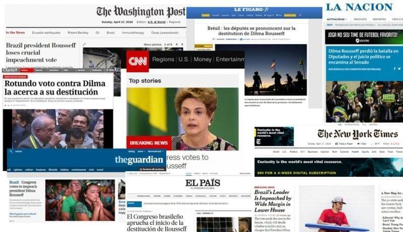Impeachment: 200 canais de TV e 2 mil estrangeiros