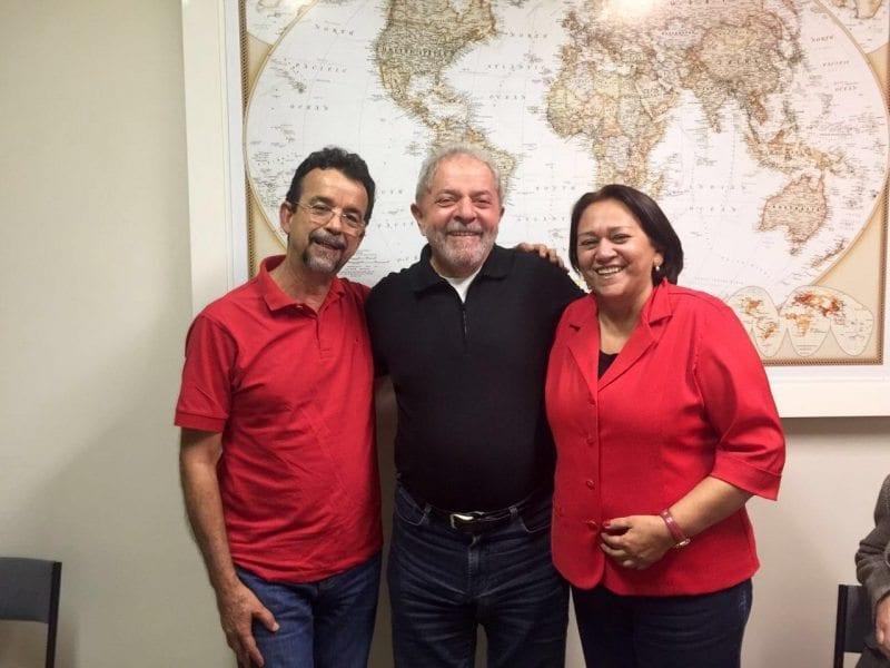 Mineiro e Fátima se encontraram com Lula e Rui Falcão nesta quarta