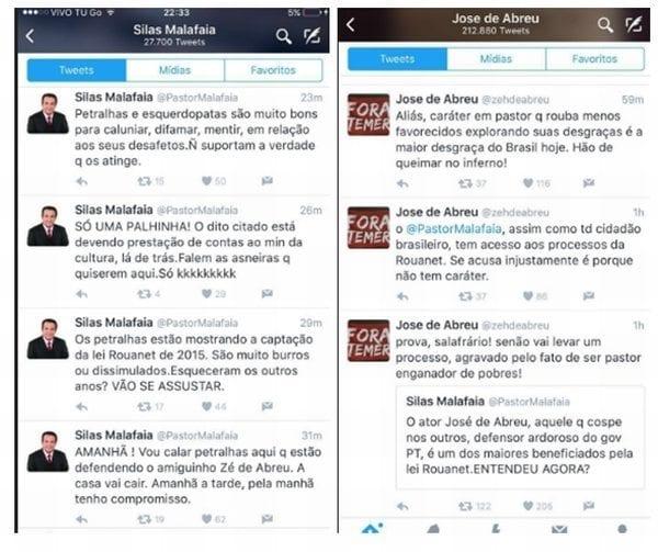 Circo no Twitter: Malafaia contra José de Abreu