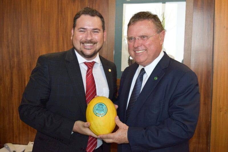 Ministro da Agricultura diz a Beto Rosado que vai apoiar abertura do mercado chinês para o melão potiguar
