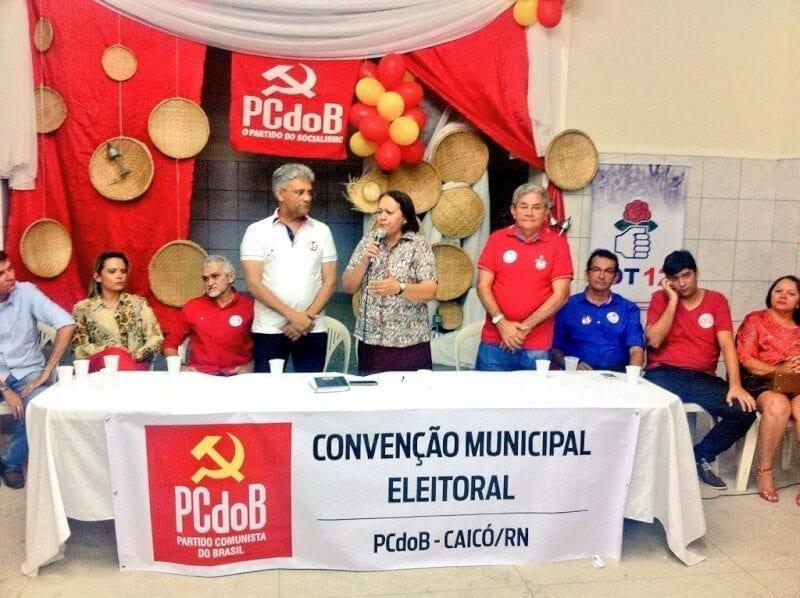 Senadora Fátima participa de convenção do PT, PCdoB e PDT em Caicó
