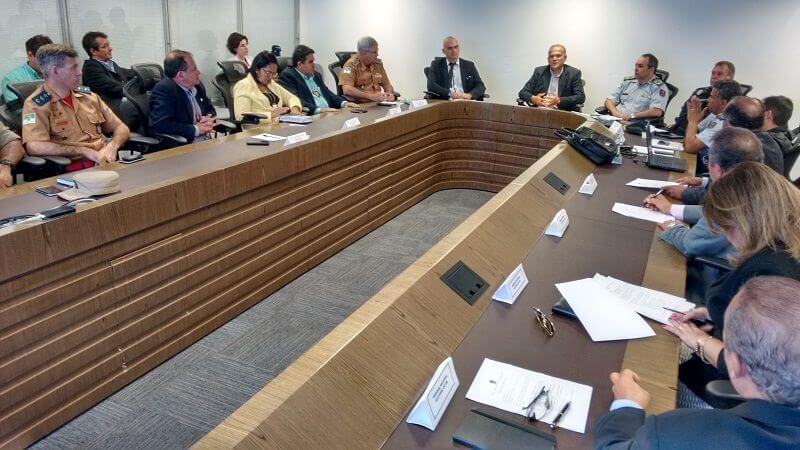 Representantes da Secretaria de Segurança se reúnem com TRE para definir o plano de segurança para eleições 2016