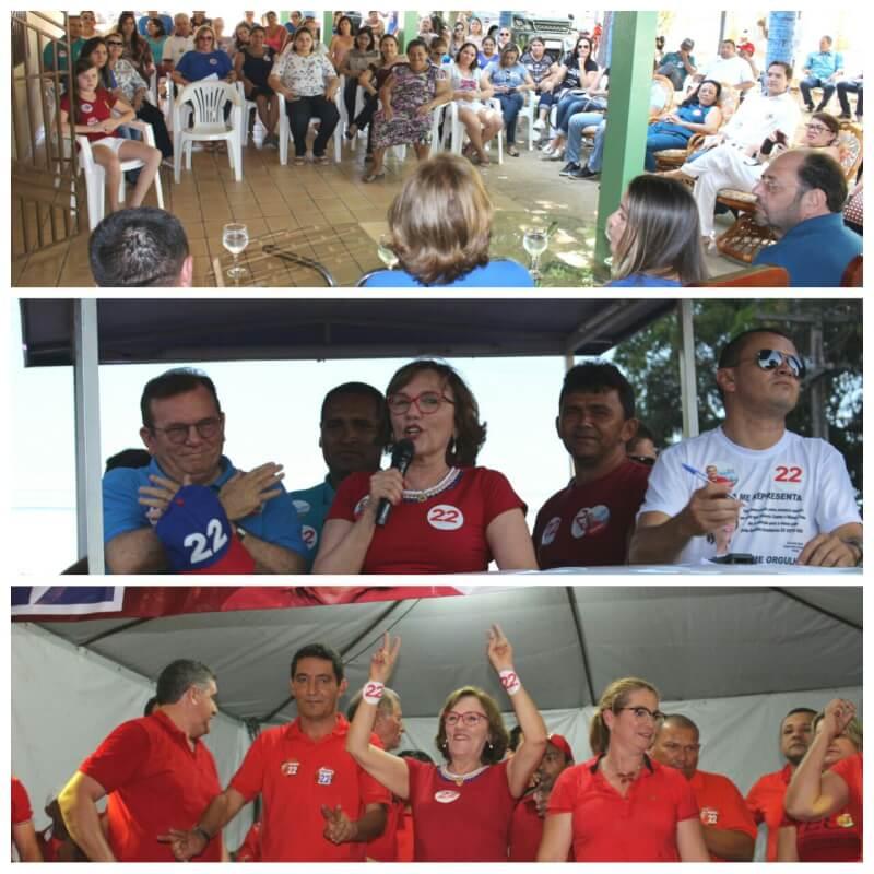 Deputada Zenaide Maia dedica sábado para movimentações políticas em Lucrécia, São Gonçalo e Tibau do Sul