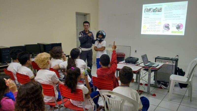 Projeto 'Educação de Trânsito nas Escolas' realiza atividades na cidade de Caicó