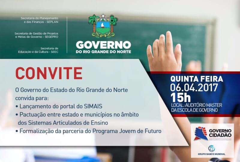 Governo do RN lança amanhã ações voltadas para o fortalecimento do ensino