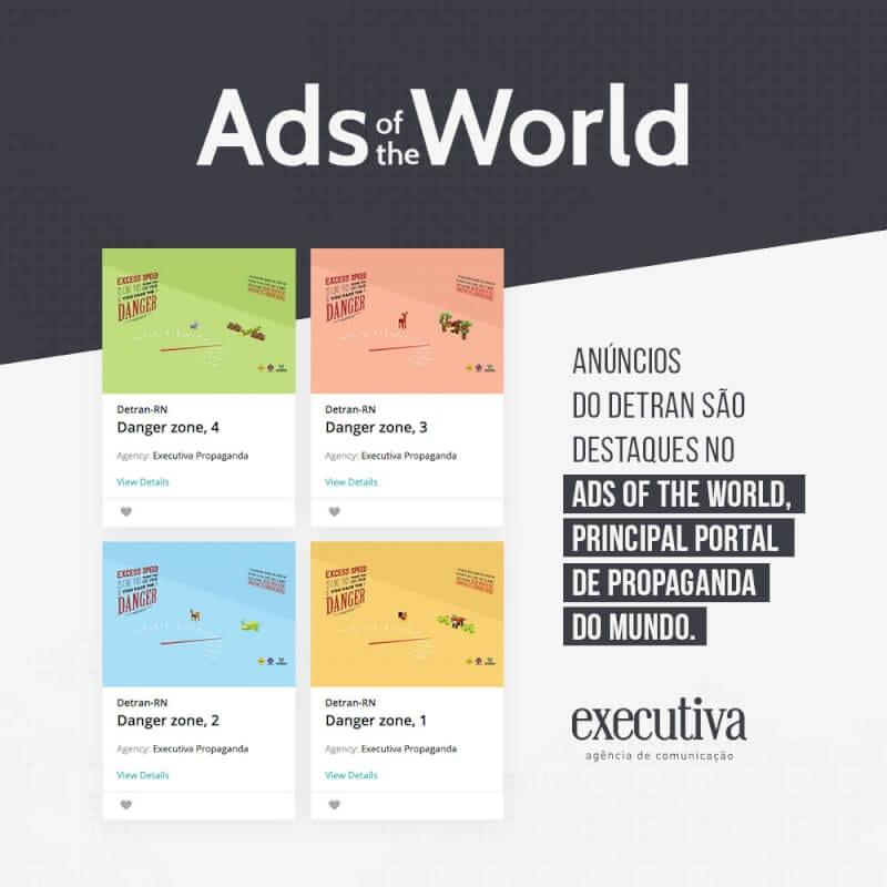 Anúncios do Detran são destaque em portal internacional de propaganda