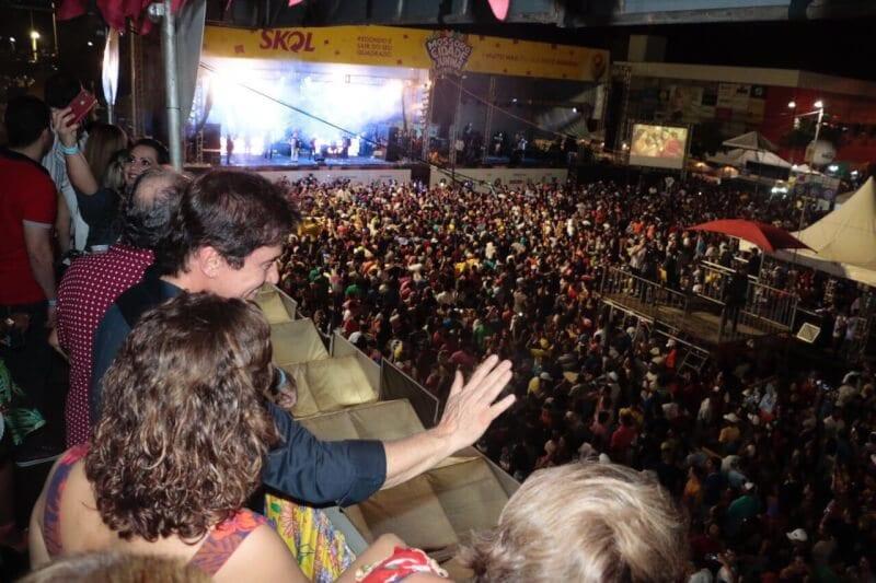 Governador visita Estação das Artes em noite de Mossoró Cidade Junina