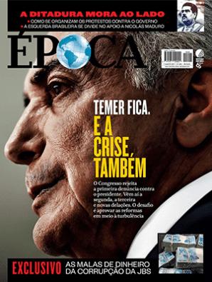 Manchetes das principais revistas do país