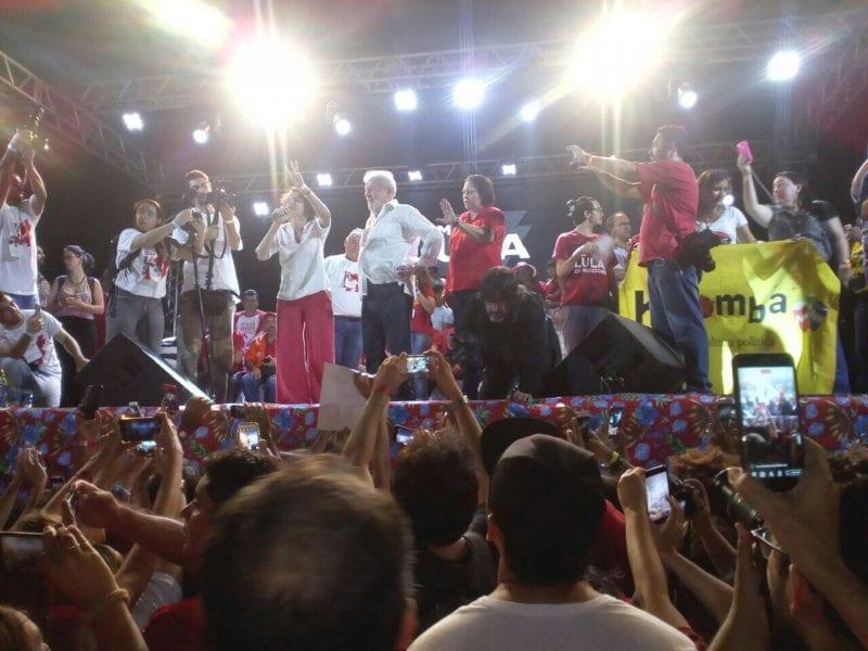 Organizadores estimam em 20 mil pessoas público de Lula em Mossoró, veja fotos