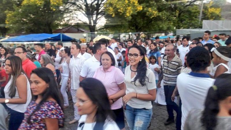 Senadora Fátima Bezerra na festa da padroeira de Serra Negra do Norte