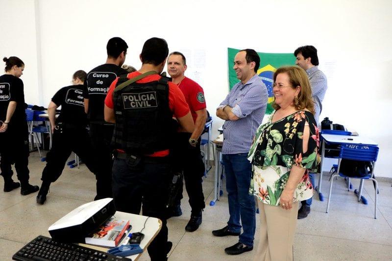 Governador em exercício visita curso de formação de agentes penitenciários
