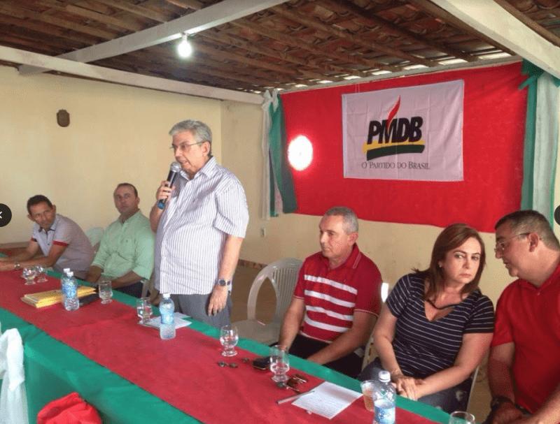 Senador Garibaldi Filho participa de convenção do PMDB de Nova Cruz