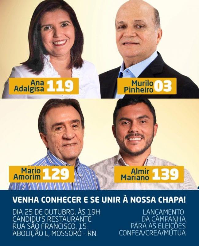 Candidata a presidente do CREA-RN, Ana Adalgisa lança campanha em Mossoró