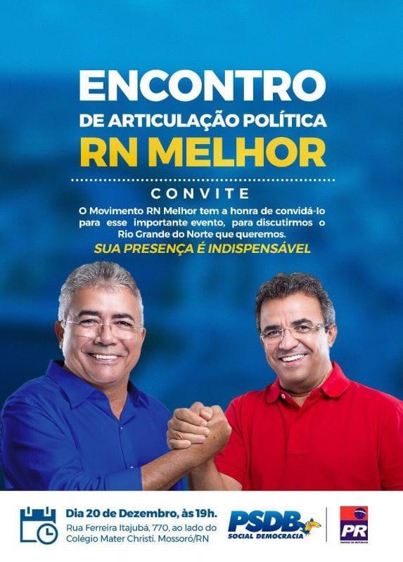 Tião Couto e Jorge do Rosário promovem evento do movimento RN Melhor