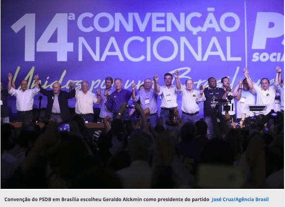 Alckmin é eleito presidente do PSDB e diz que Lula será derrotado nas urnas