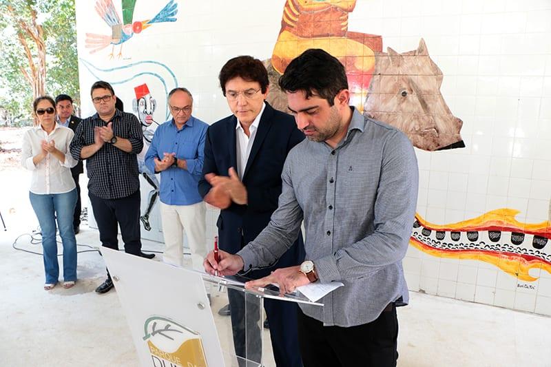 Governo firma convênio para fiscalização ambiental e reinaugura Folha das Artes