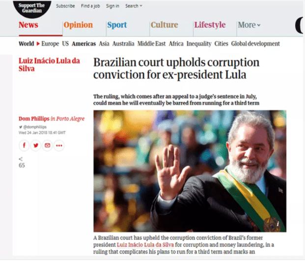 Condenação de Lula tem repercussão internacional